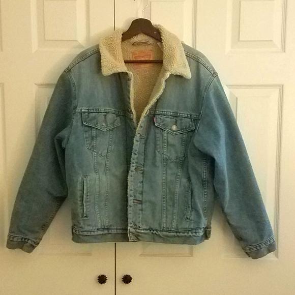 Vintage Levi's Denim Trucker Jacket Sherpa Lined